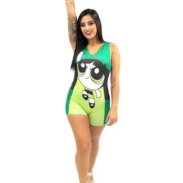 271ae1a46 Fantasia Super Poderosa Verde Macaquinho Adulto