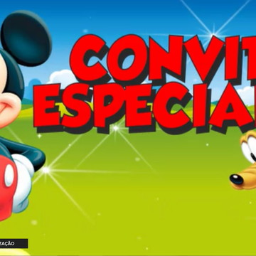 Convite Animado Turma do Mickey Mouse