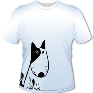 Camiseta Cão Preto e branco
