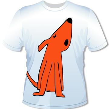 Camiseta Cão Laranja Grande
