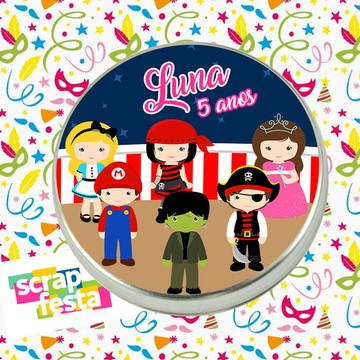 Latinhas Personalizadas Festa Carnaval