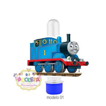 Tubete + tag 3D Thomas Trem e Seus Amigos mod 01