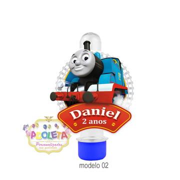 Tubete + tag 3D Thomas Trem e Seus Amigos mod 02
