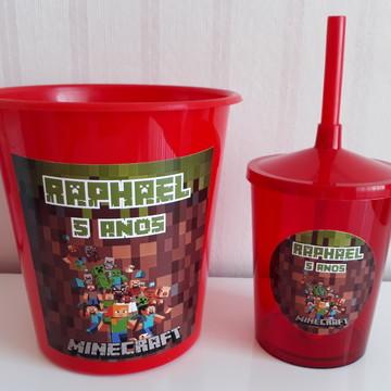 Kit Festa MiniCraft Balde e copo