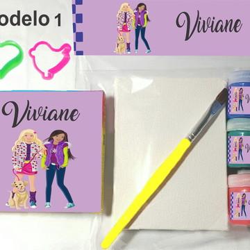 Kit massinha e pintura-Barbie