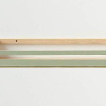 Prateleira madeira pinus porta livros quarto de crianca