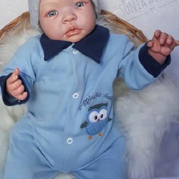 Bebê Reborn Christian - Molde Shyann - Corpo de tecido