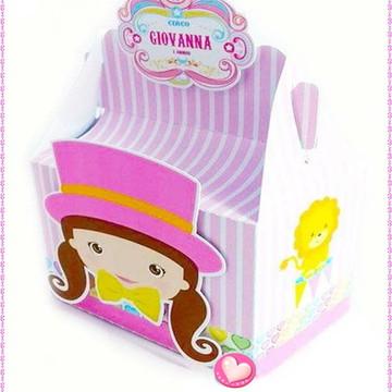 Caixa mini maletinha Circo Rosa