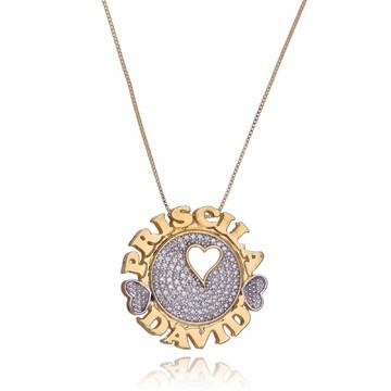 Mandala personalizada com nome e coração