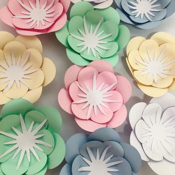 Mini flor de papel