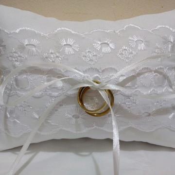 Almofadinha para alianças de casamento