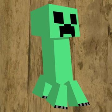 Aplique para tubete Minecraft
