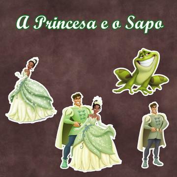 Apliques / Recortes - A Princesa e o Sapo