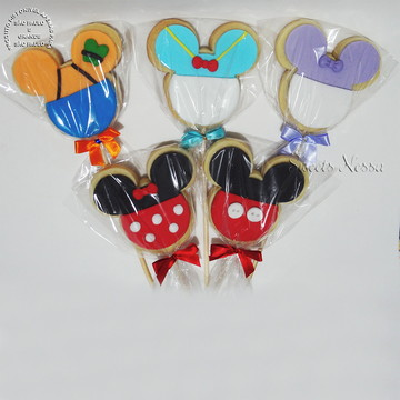 Pirulito de Biscoito - Turma do Mickey