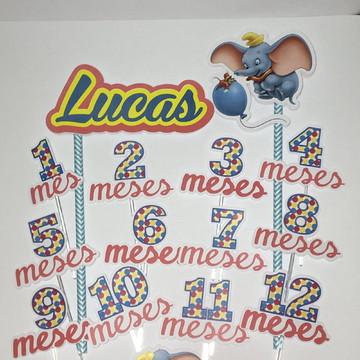 Kit Mesversário Dumbo Todos os Meses