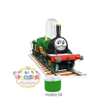 Tubete + tag 3D Thomas Trem e Seus Amigos mod 04