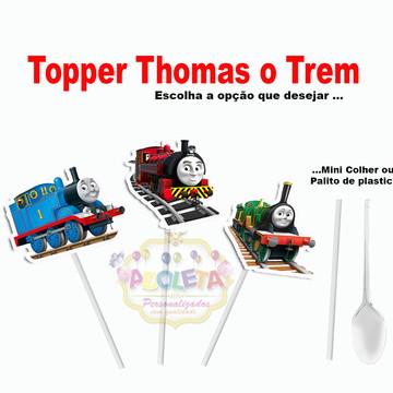 Toppers + tag 3D Thomas Trem e Seus Amigos ( 100 unid )