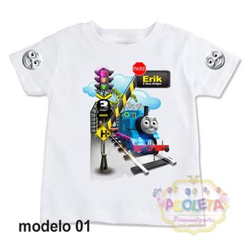 camiseta personalizada Thomas Trem e Seus Amigos mod 01
