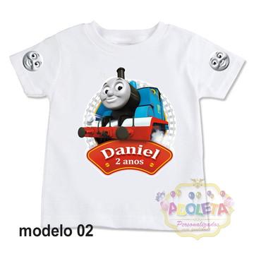 camiseta personalizada Thomas Trem e Seus Amigos mod 02