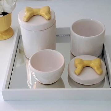 Kit Higiene bebê laço amarelo