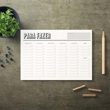 Planner Semanal Impresso