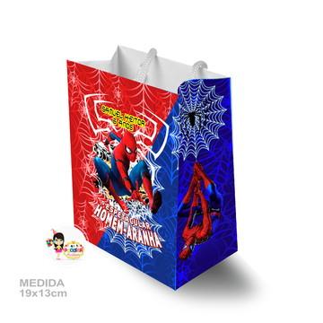 sacola surpresa homem aranha 19x13cm