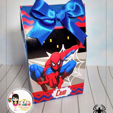 caixa sacolinha homem aranha