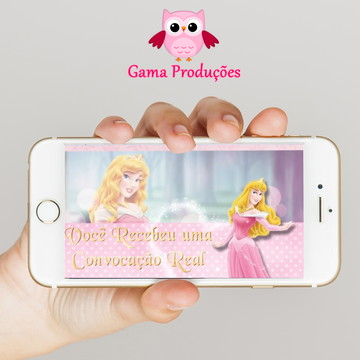 Convite Animado - Princesa Aurora