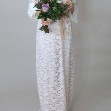 Vestido Noiva Boho TRadicional Simples