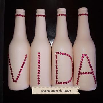 garrafas decoradas vida