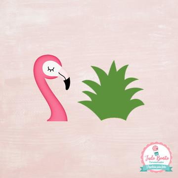 Coroa Abacaxi e Cabeça Flamingo para Docinhos
