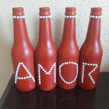 garrafas decoradas amor