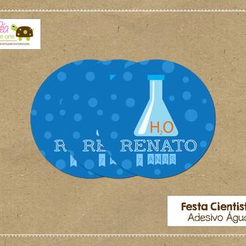 Adesivo água Cientista