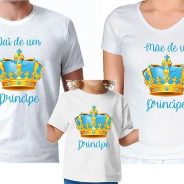 Camisetas Pai e mãe de Príncipe e príncipe