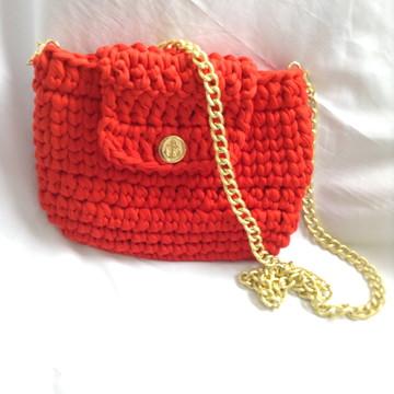 Bolsa de crochê fio de malha - Maria