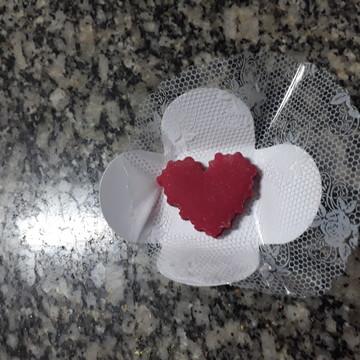 Doce de leite ninho modelado de coração