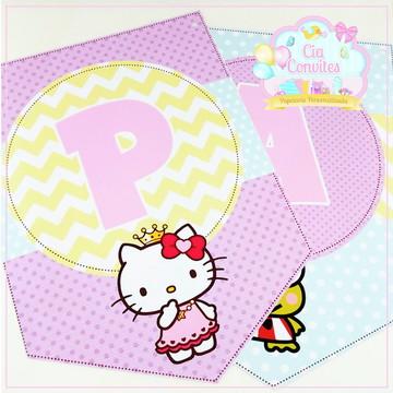 Bandeirinhas Hello Kitty