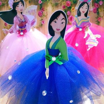 Tubete Princesa Mulan de saia tule