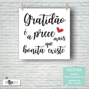 Poster - Gratidão (sem moldura)