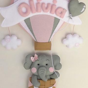 Enfeite de porta Elefantinha no balão