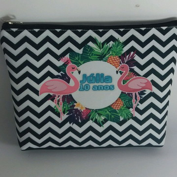 935eb6330 Bolinha necessaire flamingo tropical