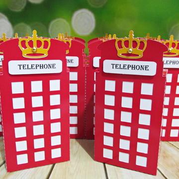 Caixa cabine telefônica Londres