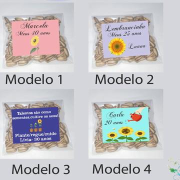 Saquinho personalizado com semente girassol/Girassol