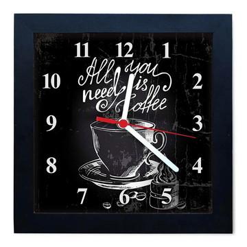 Relógio De Parede Decorativo Caixa Alta Tema Cafés