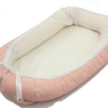 Ninho Redutor De Berço Para Bebe coroa rosa bebe + branco
