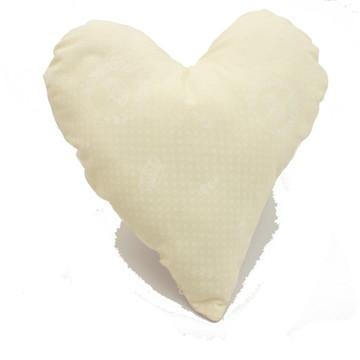 almofada coração palha