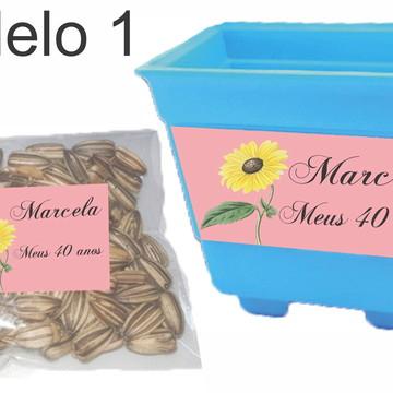 kit vaso e semente-Girassol