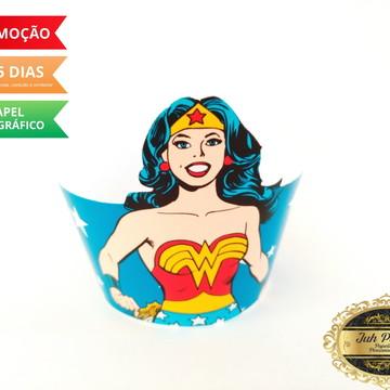 Wrapper cupcake Mulher Maravilha