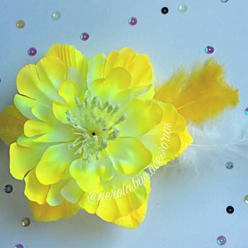 Presilha de Flor Amarela Carnaval