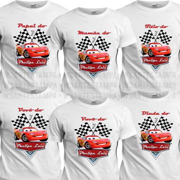 8 Camisetas Carros Disney Aniversário Blusas Aniversario